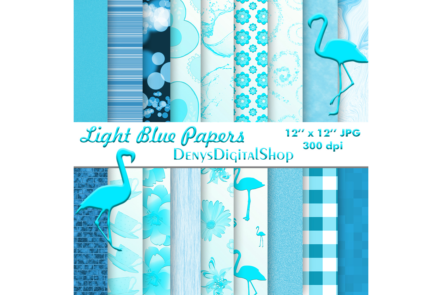 Download Free Blue Digital Scrapbook Papers Digital Graphic By for Cricut Explore, Silhouette and other cutting machines.