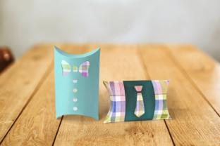 Bow Tie and Tie Pillow Box Graphic 3D Pillow Box By RisaRocksIt