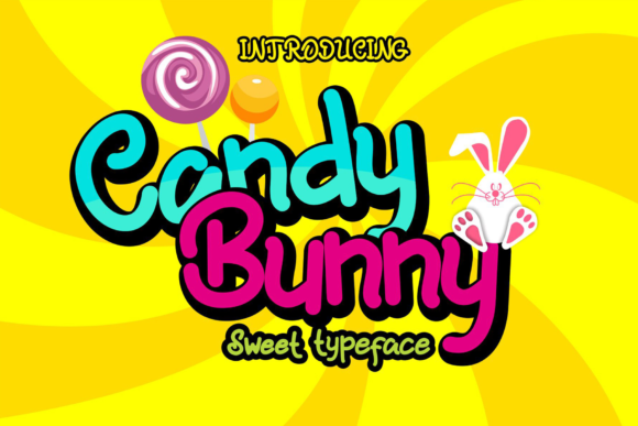 Print on Demand: Candy Bunny Display Font By fadhil figuree
