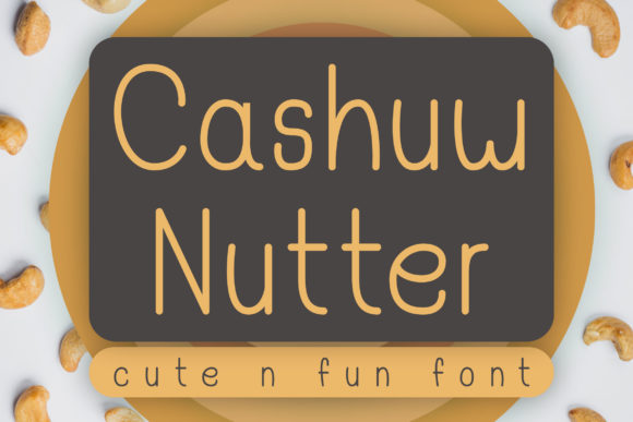 Print on Demand: Cashuw Nutter Display Font By Dasagani