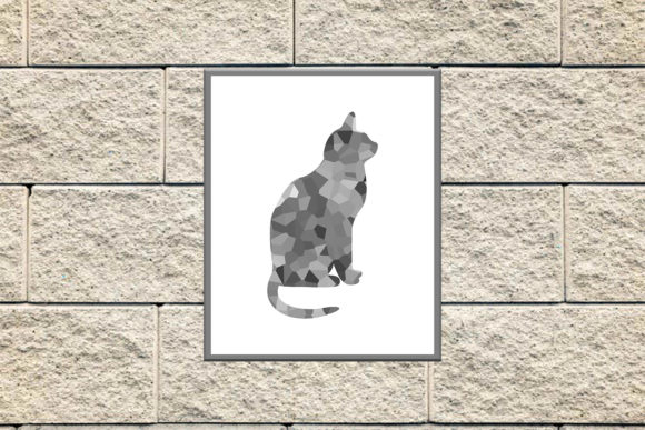 Download Free Cat Silhouette Cat Poster Cat Prints Graphic By Denysdigitalshop for Cricut Explore, Silhouette and other cutting machines.