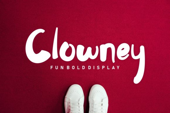 Print on Demand: Clowney Display Font By putracetol