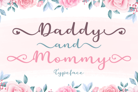 Print on Demand: Daddy and Mommy Script & Handwritten Font By Situjuh