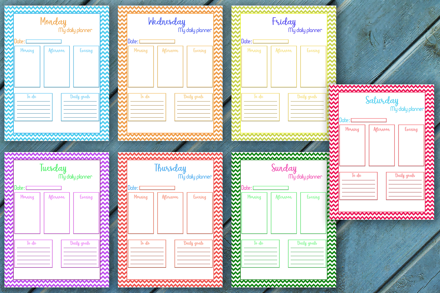 Download Free Daily Planner Every Day Planner Grafico Por Denysdigitalshop for Cricut Explore, Silhouette and other cutting machines.