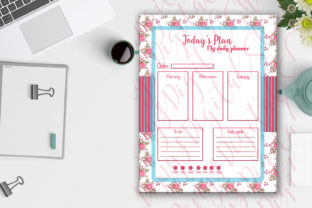 Daily Planner Roses Shabby Chic Digital Graphic Crafts By denysdigitalshop