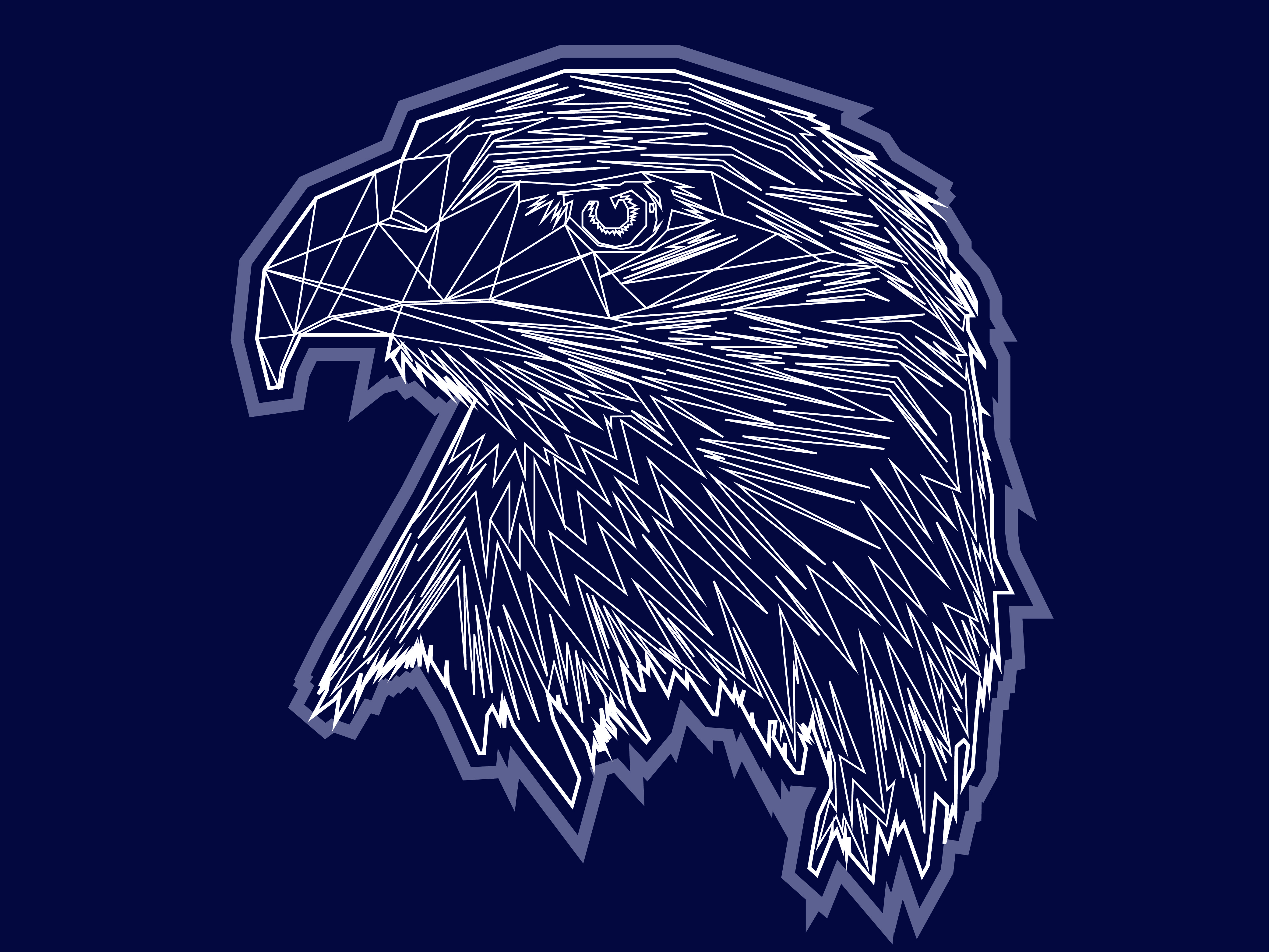 Download Free Eagle Abstract Graphic By Rafcreative3 Creative Fabrica for Cricut Explore, Silhouette and other cutting machines.