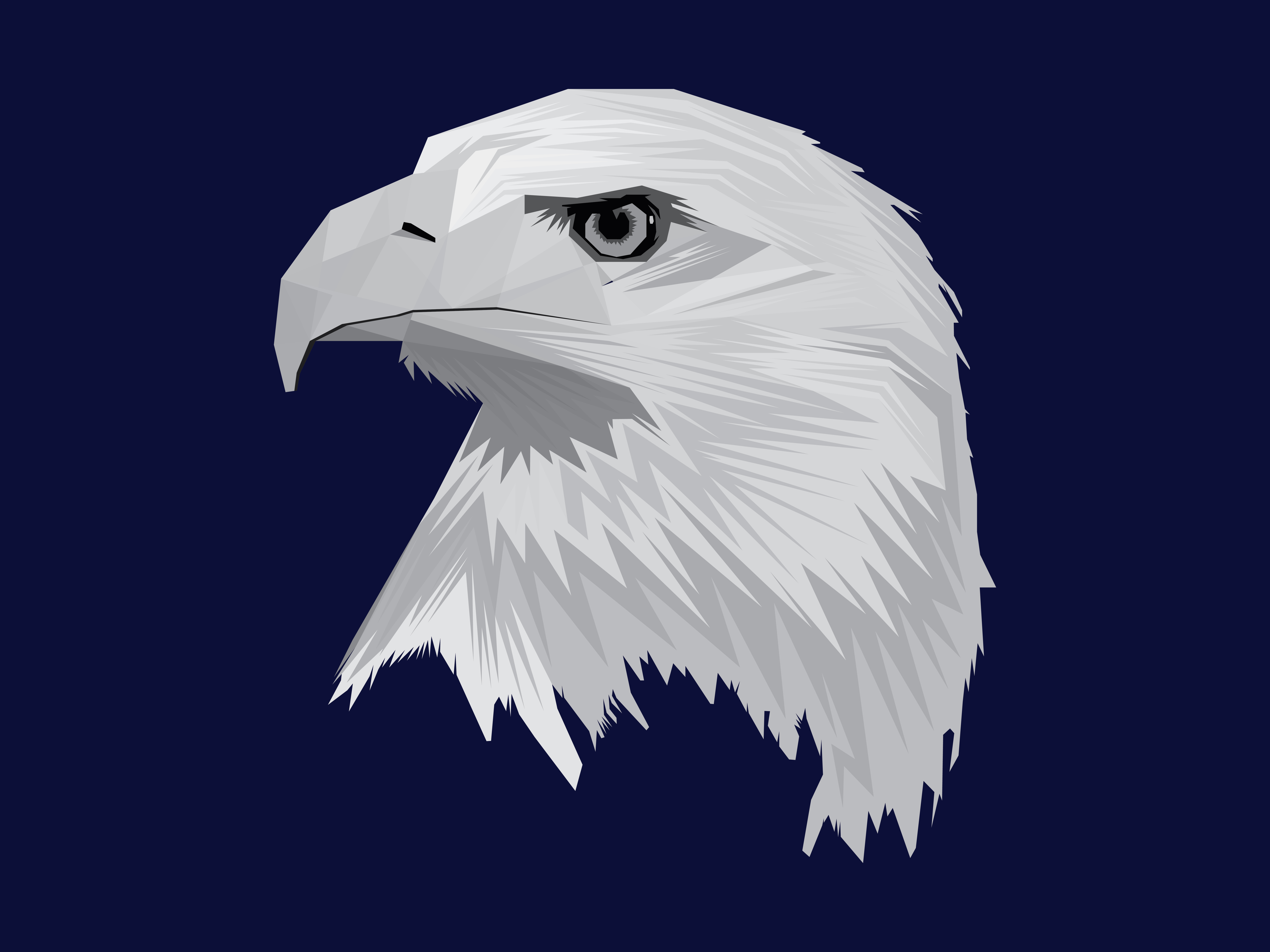 Download Free Eagle Gray Graphic By Rafcreative3 Creative Fabrica for Cricut Explore, Silhouette and other cutting machines.