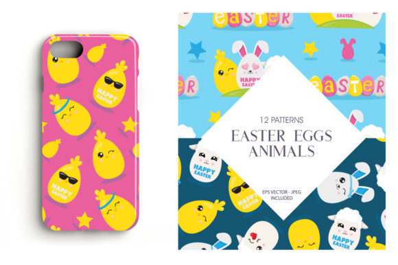 Print on Demand: Easter Eggs Animals Graphic Patterns By Prettygrafik - Image 4