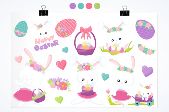 Download Free Easter Mom Bunny Graphic By Prettygrafik Creative Fabrica for Cricut Explore, Silhouette and other cutting machines.