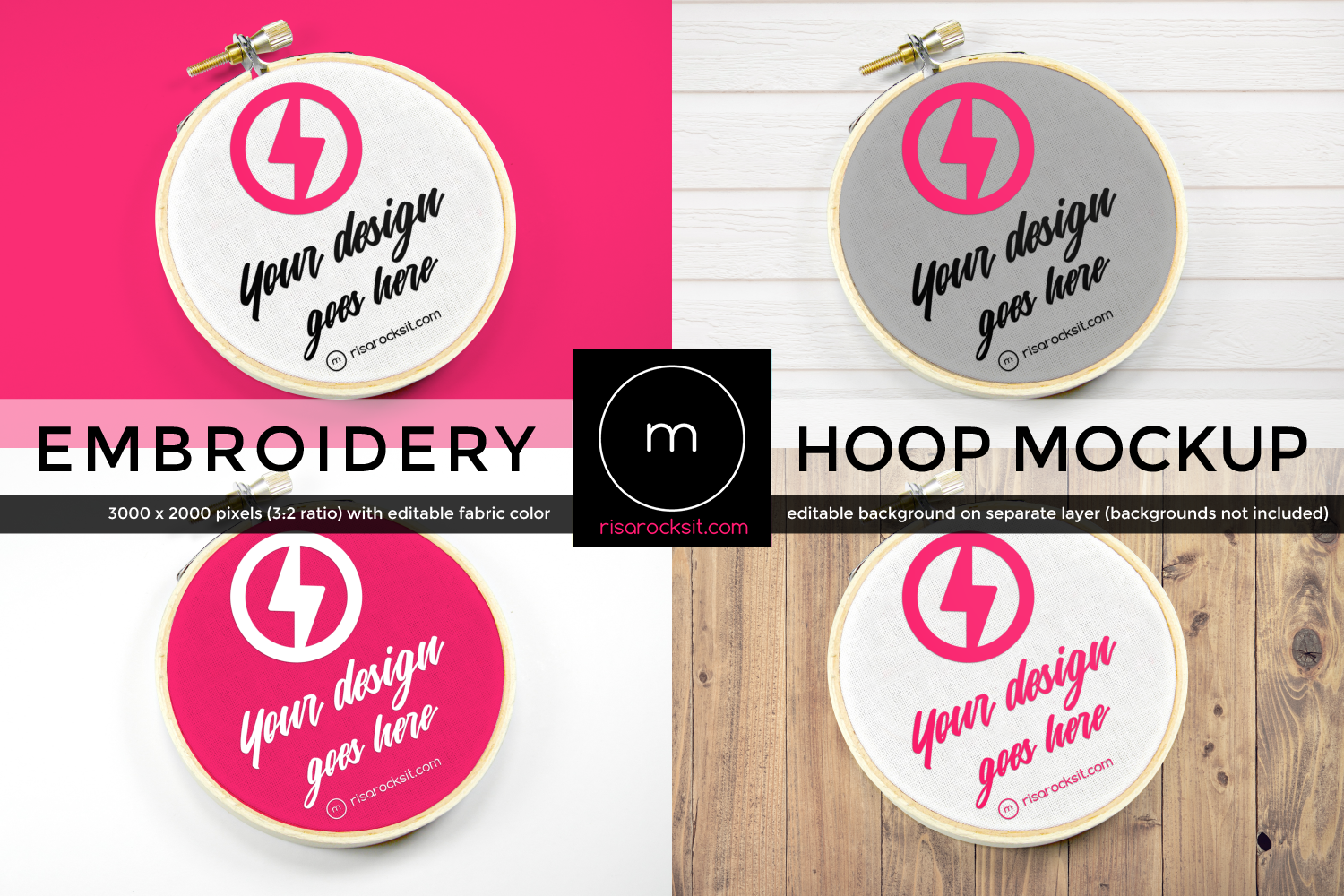 Download Free Embroidery Hoop Product Mock Up Graphic By Risarocksit for Cricut Explore, Silhouette and other cutting machines.