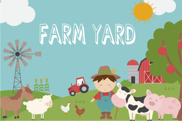 Print on Demand: Farm Yard Clipart Graphic Illustrations By poppymoondesign