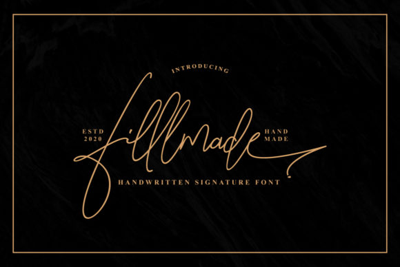 Print on Demand: Fillmade Script & Handwritten Font By Ijem RockArt