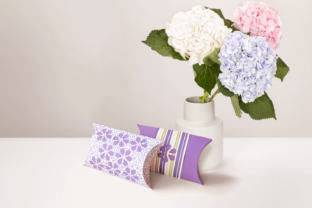 Flower Pillow Box Graphic 3D Pillow Box By RisaRocksIt