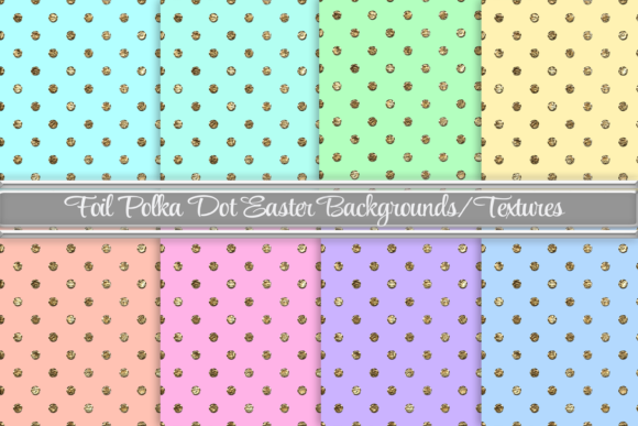 Download Free Foil Polka Dot Easter Backgrounds Graphic By Am Digital Designs for Cricut Explore, Silhouette and other cutting machines.