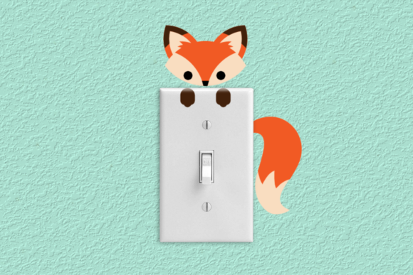 Fox Light Switch & Outlet Decoration Graphic Crafts By RisaRocksIt