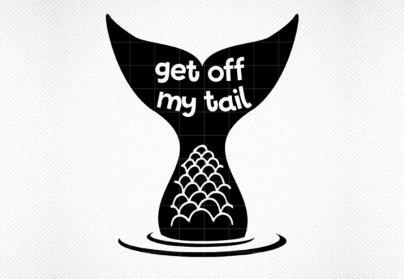 Download Get off My Tail Mermaid Car Decal