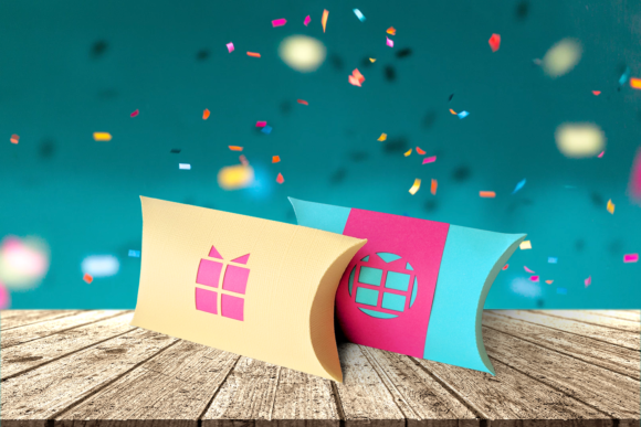 Download Free Gift Box Pillow Box Graphic By Risarocksit Creative Fabrica for Cricut Explore, Silhouette and other cutting machines.