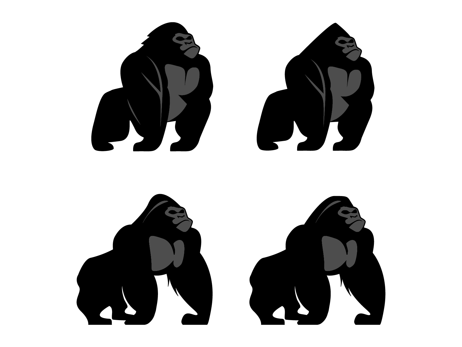 Download Free Gorilla Vector Graphic By Jprintgrafika Creative Fabrica for Cricut Explore, Silhouette and other cutting machines.