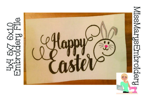 Happy Easter Easter Embroidery Design By MissMarysEmbroidery