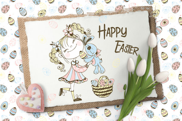 Happy Easter Graphic Illustrations By grigaola