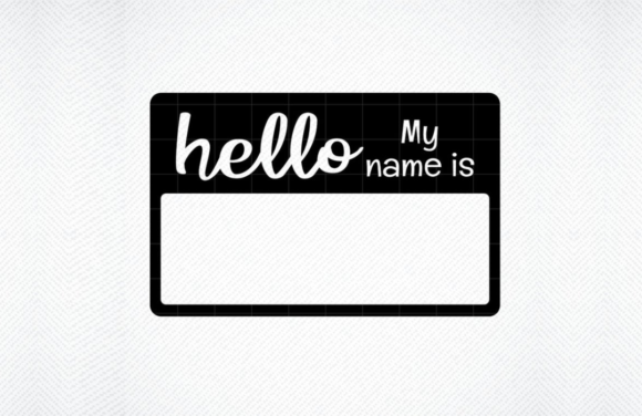 Print on Demand: Hello My Name is Graphic Crafts By SVG DEN