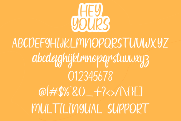 Print on Demand: Hey Yours Script & Handwritten Font By Rvandtype - Image 6