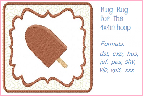 Ice Cream Bar Dessert & Sweets Embroidery Design By Christie's Embroidery Cafe