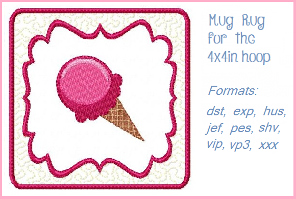 Ice Cream Dessert & Sweets Embroidery Design By Christie's Embroidery Cafe