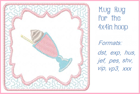 Ice Cream Soda Dessert & Sweets Embroidery Design By Christie's Embroidery Cafe