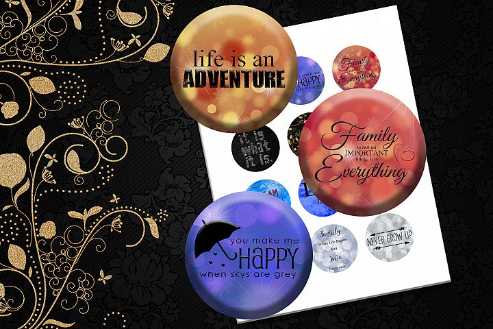 Download Free Inspirational Quotes For Buttons Graphic By Denysdigitalshop for Cricut Explore, Silhouette and other cutting machines.