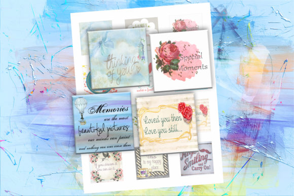 Inspirational Quotes Printable Squares Graphic Crafts By denysdigitalshop