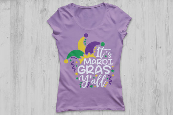 Download Free It S Mardi Gras Y All Graphic By Cosmosfineart Creative Fabrica for Cricut Explore, Silhouette and other cutting machines.