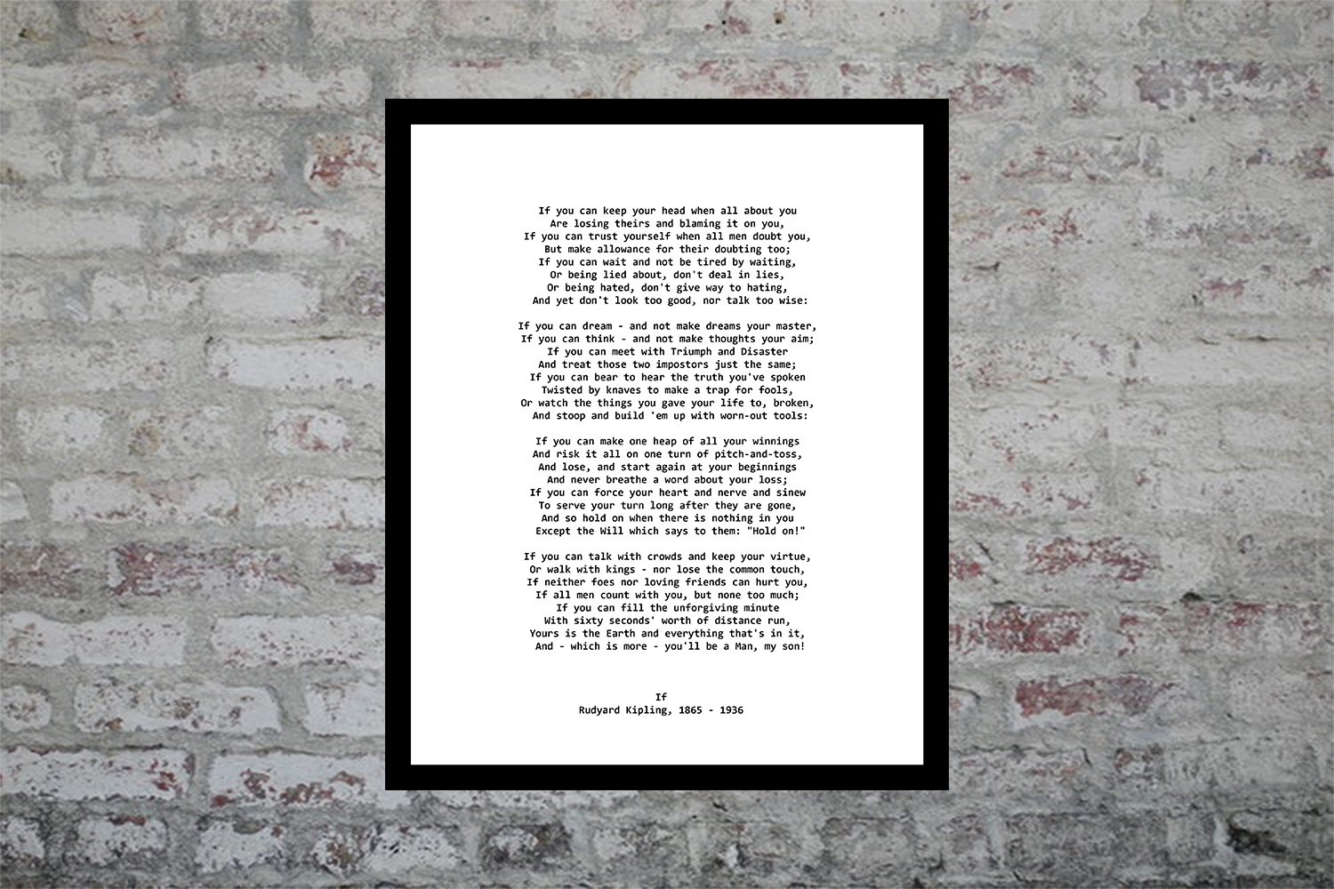 Download Free Kipling Poem Graphic By Denysdigitalshop Creative Fabrica for Cricut Explore, Silhouette and other cutting machines.