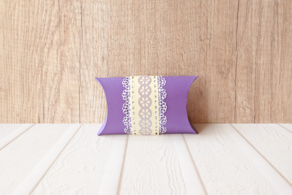 Lace Band Pillow Box Graphic 3D Pillow Box By RisaRocksIt