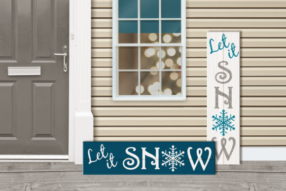 Let It Snow Christmas Porch Sign Graphic Crafts By RisaRocksIt