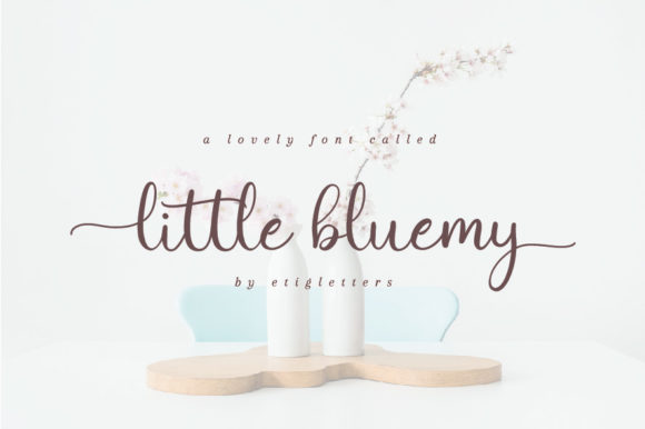 Print on Demand: Little Bluemy Script & Handwritten Font By etigletters