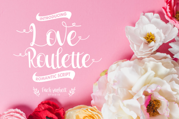 Print on Demand: Love Roulette Script & Handwritten Font By fachranheit