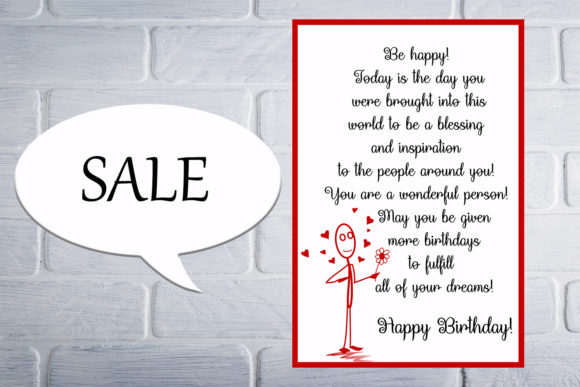 Download Free Lovely Birthday Card Happy Birthday Graphic By Denysdigitalshop for Cricut Explore, Silhouette and other cutting machines.