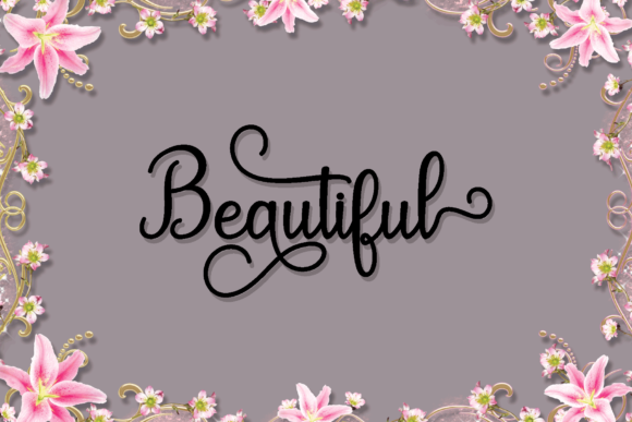 Download Free Maulydiya Font By Mydesign Creative Fabrica for Cricut Explore, Silhouette and other cutting machines.