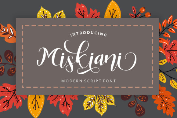 Print on Demand: Miskiani Script & Handwritten Font By Shape Studio