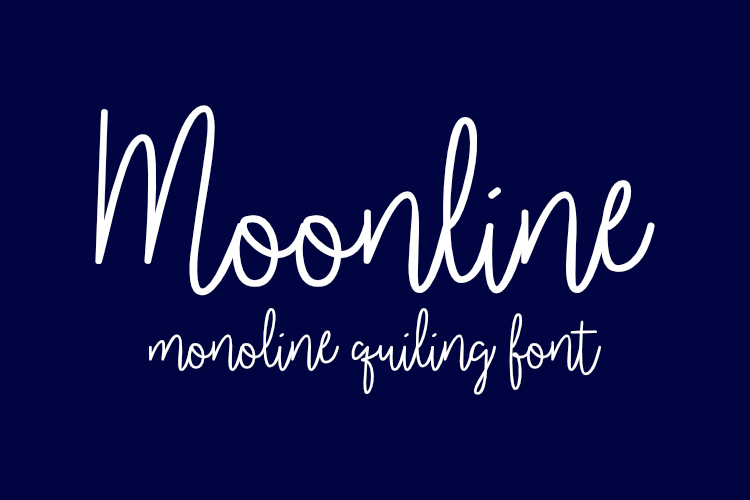 Download Free Moonline Font By Harisprawoto Creative Fabrica for Cricut Explore, Silhouette and other cutting machines.