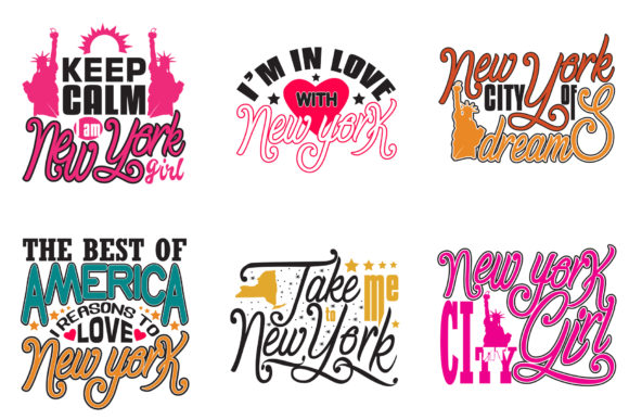 Download Free New York Quotes Craft Graphic By Tosca Digital Creative Fabrica for Cricut Explore, Silhouette and other cutting machines.