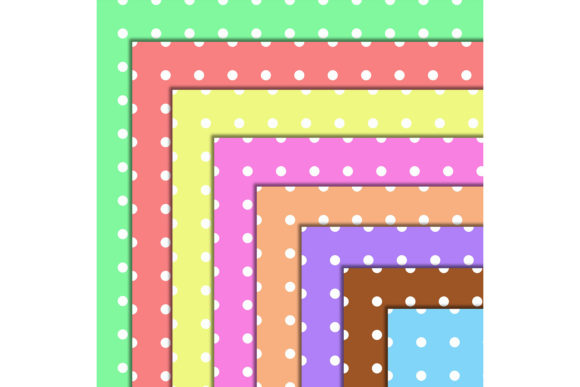 Download Free Polka Dot 50 Digital Scrapbook Papers Graphic By for Cricut Explore, Silhouette and other cutting machines.