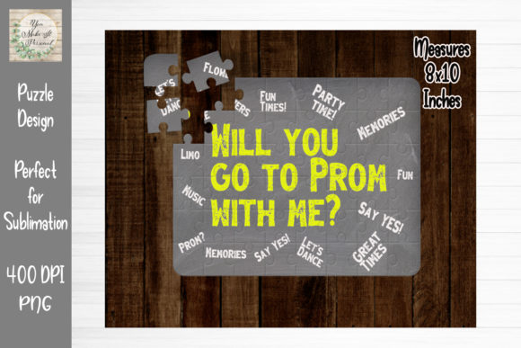 Print on Demand: Prom Proposal- Perfect for Puzzles Graphic Print Templates By You Make It Personal