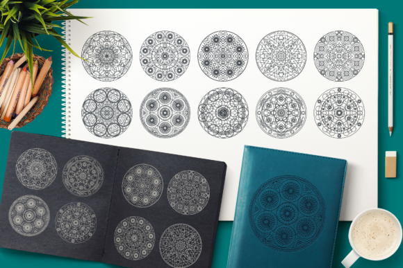 Print on Demand: Sacred Geometric Mandalas Collection Gráfico Ilustraciones Por barsrsind