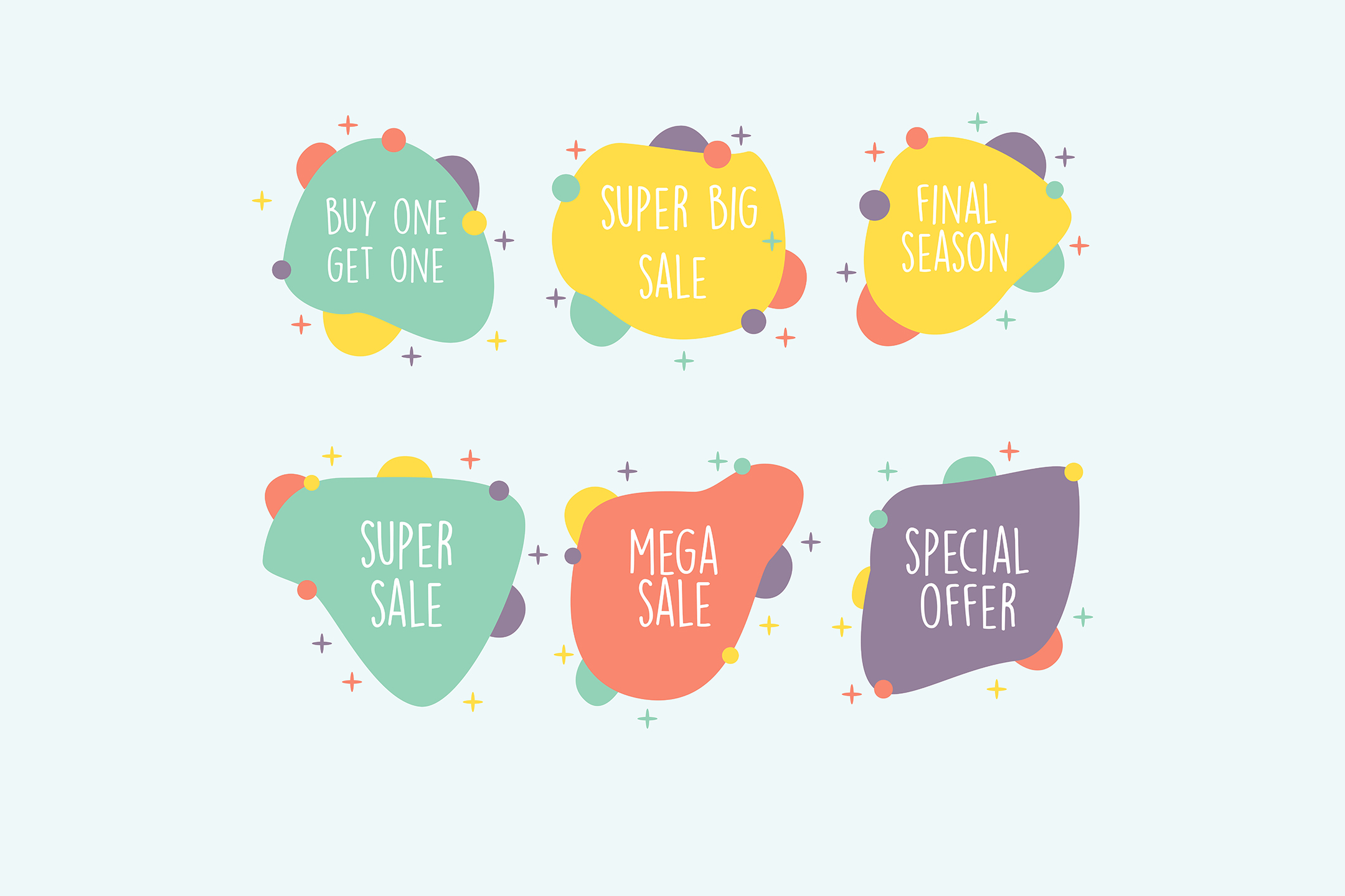 Download Free Sales Badges Colorful Illustration Graphic By Aprlmp276 for Cricut Explore, Silhouette and other cutting machines.