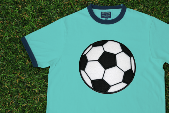 Soccer Ball Applique Sport Stickdesign von DesignedByGeeks