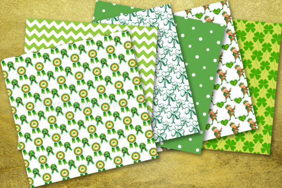 Download Free St Patrick S Day Digital Paper Patrick Grafico Por Denysdigitalshop Creative Fabrica for Cricut Explore, Silhouette and other cutting machines.