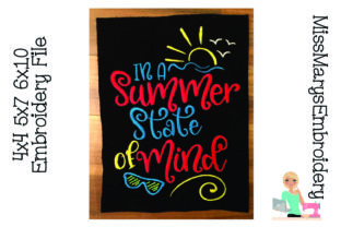 Summer State of Mind Summer Embroidery Design By MissMarysEmbroidery