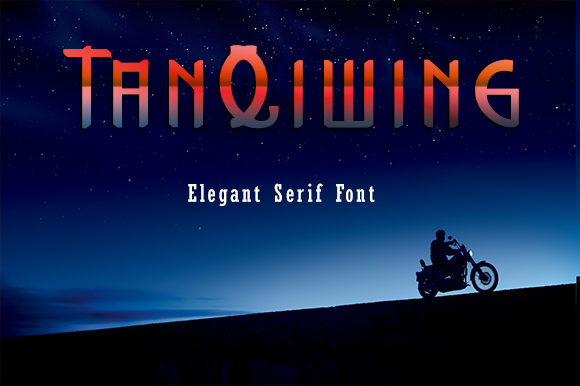 Print on Demand: TanQiwing Serif Font By ZultypeFonter
